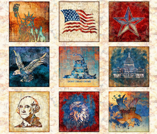 Liberty, Glory, Freed PANEL by Quilting Treasures (1649-28141-E)