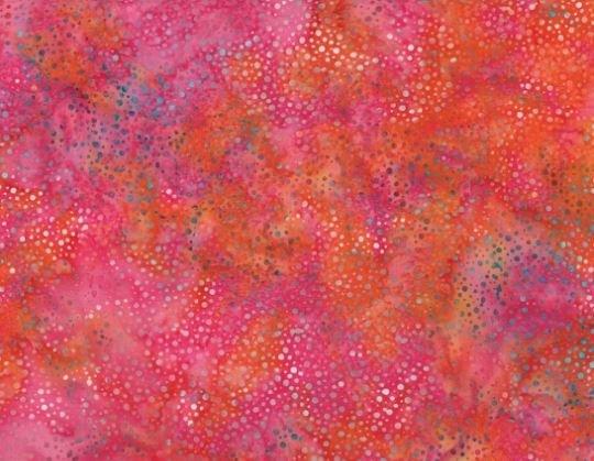 Dot Batiks by Hoffman Fabrics (885-368-CORAL-GABLES)