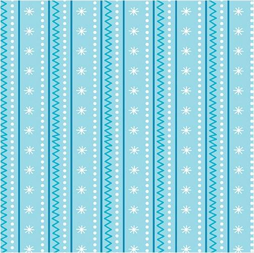Artic Stripe Aqua (Snow Place Like Home) by Kanvas Studio for Benartex (9867-05)