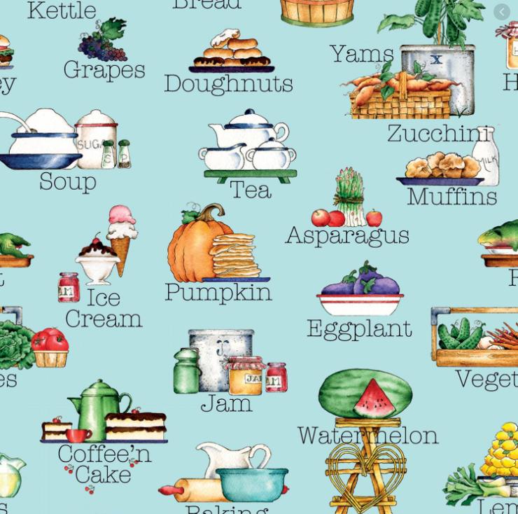 Hungry Animal Alphabet by Riley Blake Designs (C10183-BLUE)