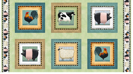 Down On The Farm PANEL by Quilting Treasures (1649-27857-H)