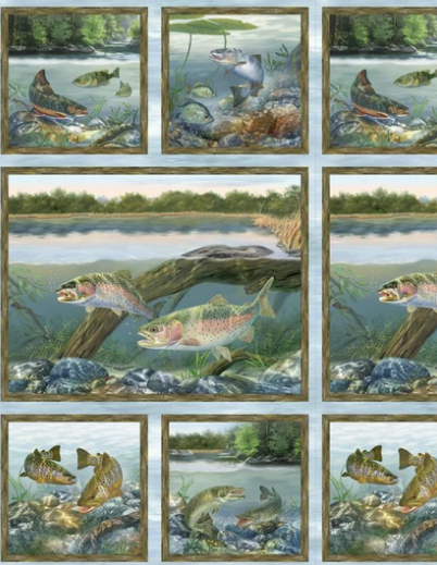 First Catch PANEL by Wilmington Prints (3034-10144-472)