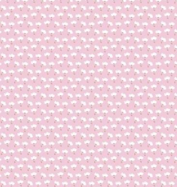 3 Wishes Playful Cuties 3 FLANNEL 14638 White Balloons  Cotton Fabric