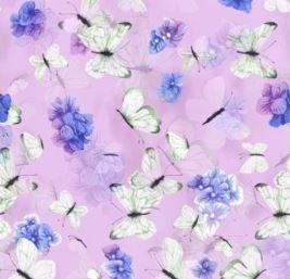 Hydrangea Harmony by Cedar West for Clothworks (Y2822-44-LIGHT EGGPLANT)