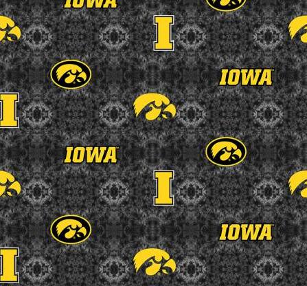 NCAA Iowa Tye Dye FLANNEL by Sykel Enterprises (IA-1191)