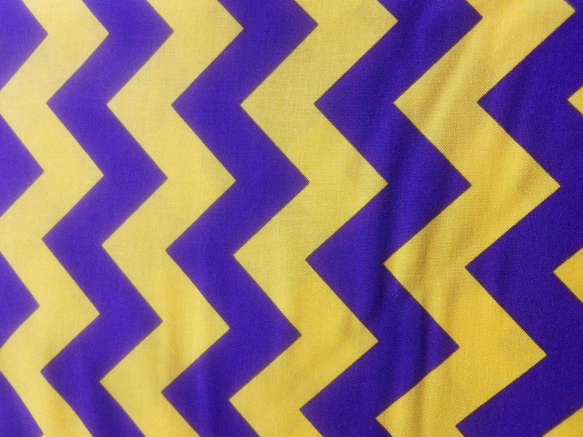 Purple/Gold Chevron