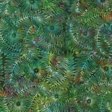Bali Batik (Floral Leaf Rainforest) by Hoffman Fabrics (S2323-553-RAINFOREST)