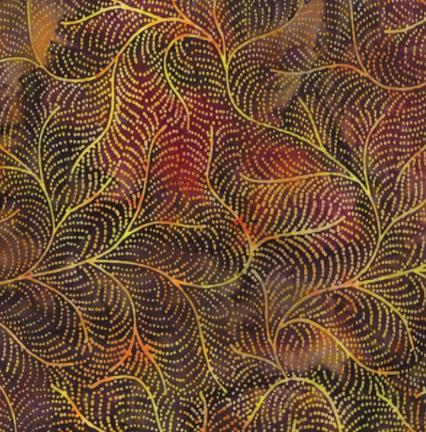 Bali Batik (Dotty Vine Walnut) by Hoffman Fabrics (S2378-180-WALNUT)