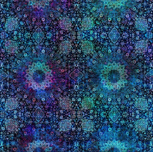 Floral Rhapsody by Hoffman Fabrics (S4760-18-ROYAL)