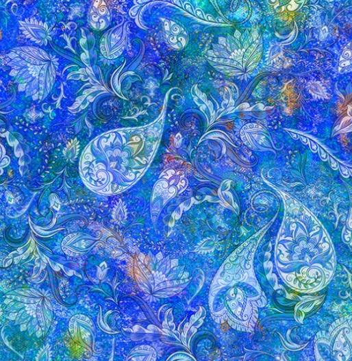 Floral Rhapsody by Hoffman Fabrics (S4761-518-SPLASH)