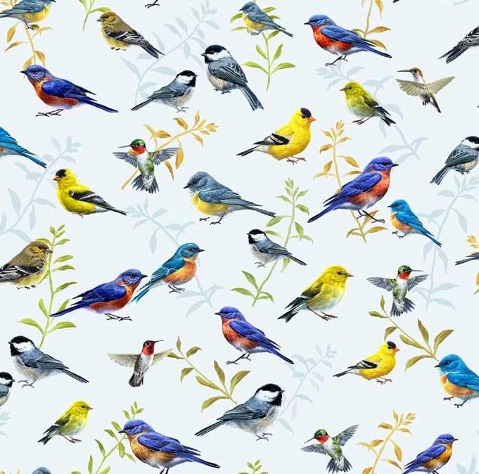 Song Birds by P&B Textiles (SONB-4329-MU)