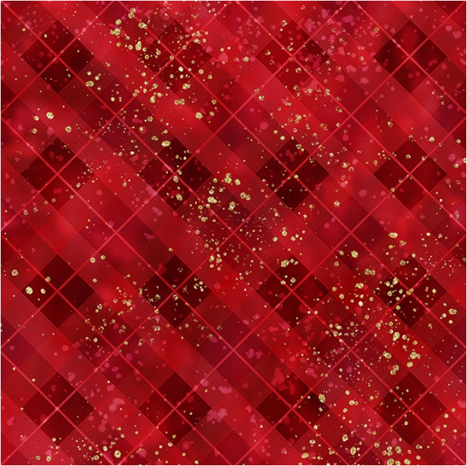 Gingerbread Lane (Red/Gold) by Hoffman Fabrics (T4852-5G)