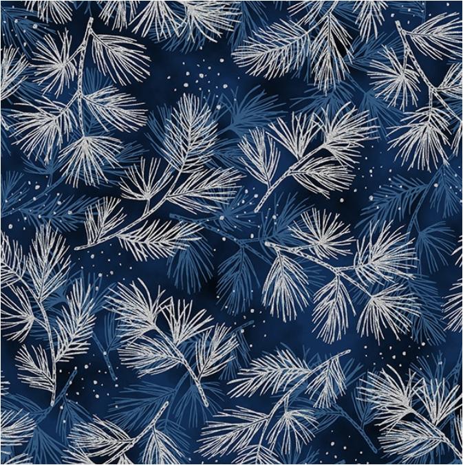 Perch (Dusty Navy/Silver) by Hoffman Fabrics (T7741-19S)