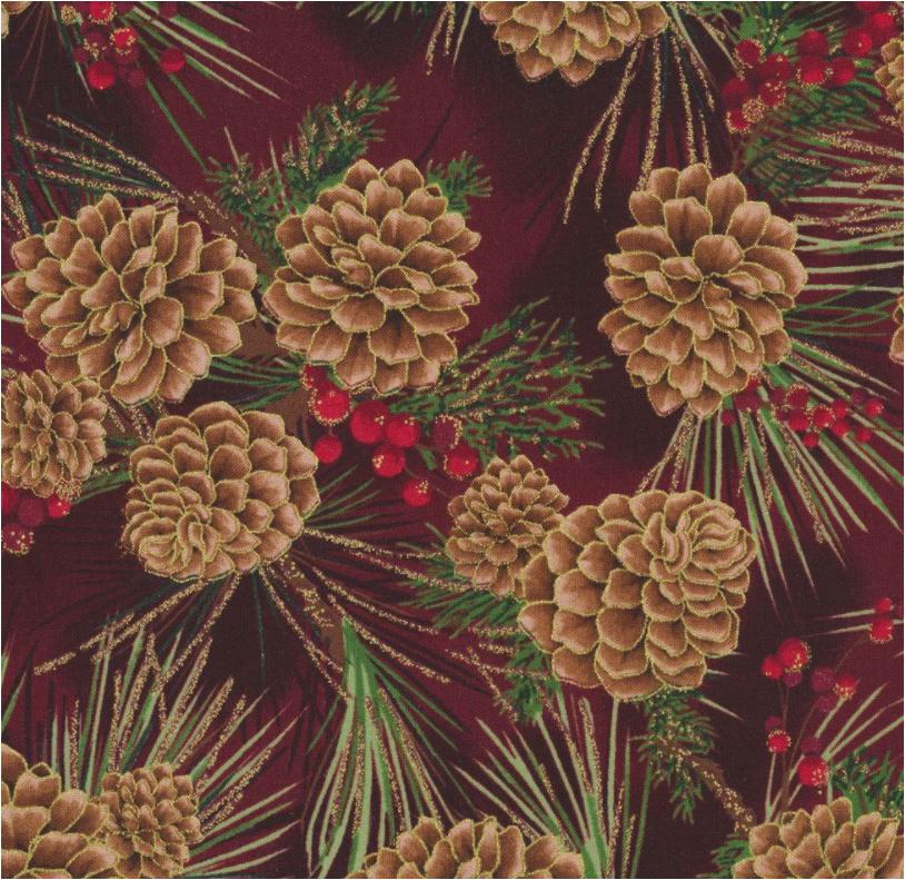 Joyful Traditions (Scarlet/Gold) by Hoffman Fabrics (T7748-78G-SCARLET/GOLD)