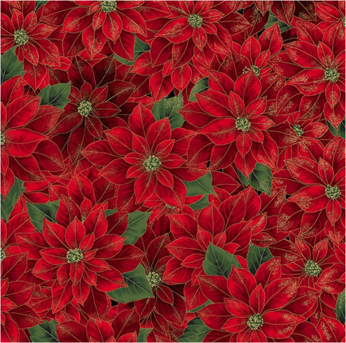 Joyful Traditions (Christmas/Gold) by Hoffman Fabrics (T7749-161G-CHRISTMAS/GOLD)