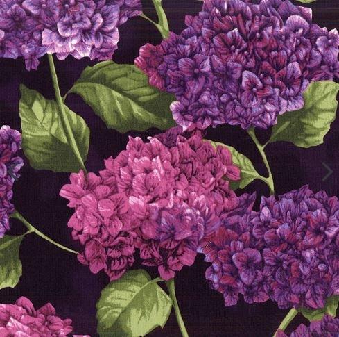 Hydrangea Harmony by Cedar West for Clothworks (Y2819-45-EGGPLANT)