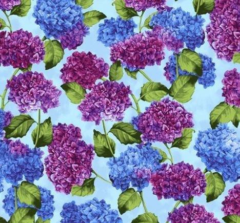 Hydrangea Harmony by Cedar West for Clothworks (Y2819-55-MULTI)