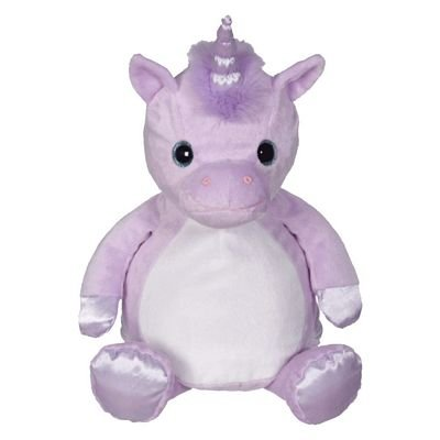 Embroidery Buddy  - purple unicorn -  you can embroider on his belly