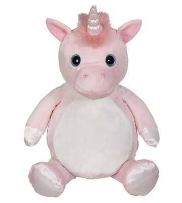 Embroidery Buddy  -  Pink Unicorn - you can embroider on his belly