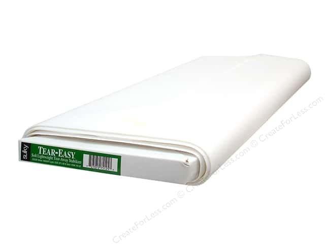 Sulky Tear Easy (soft lightweighttear away ) stabilizer