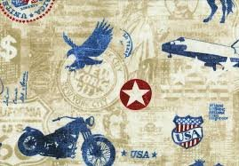 Northcott American Vintage 21335-12 Beige