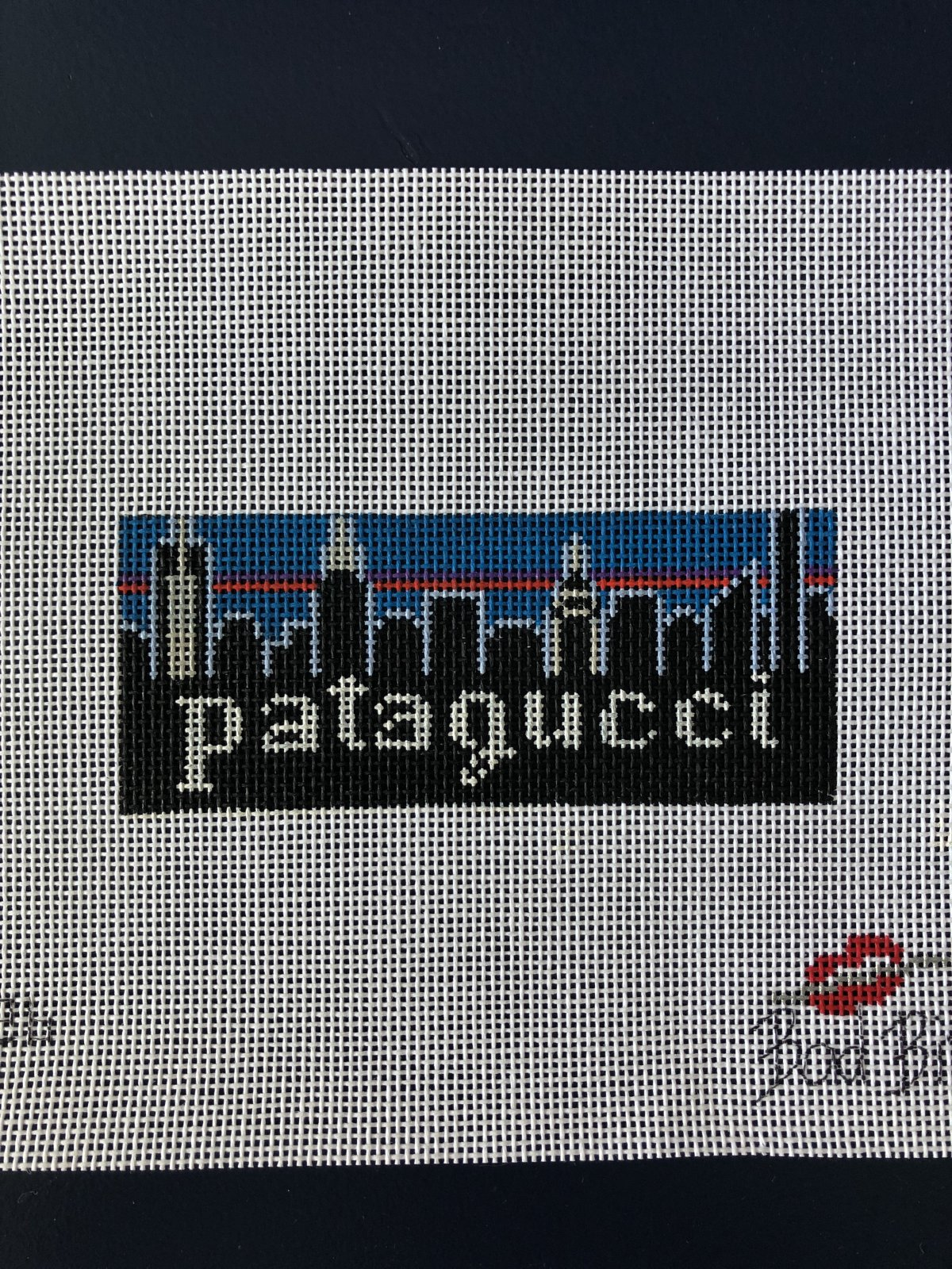 Patagucci by Bad Bitch Needlepoint  - New York Skyline