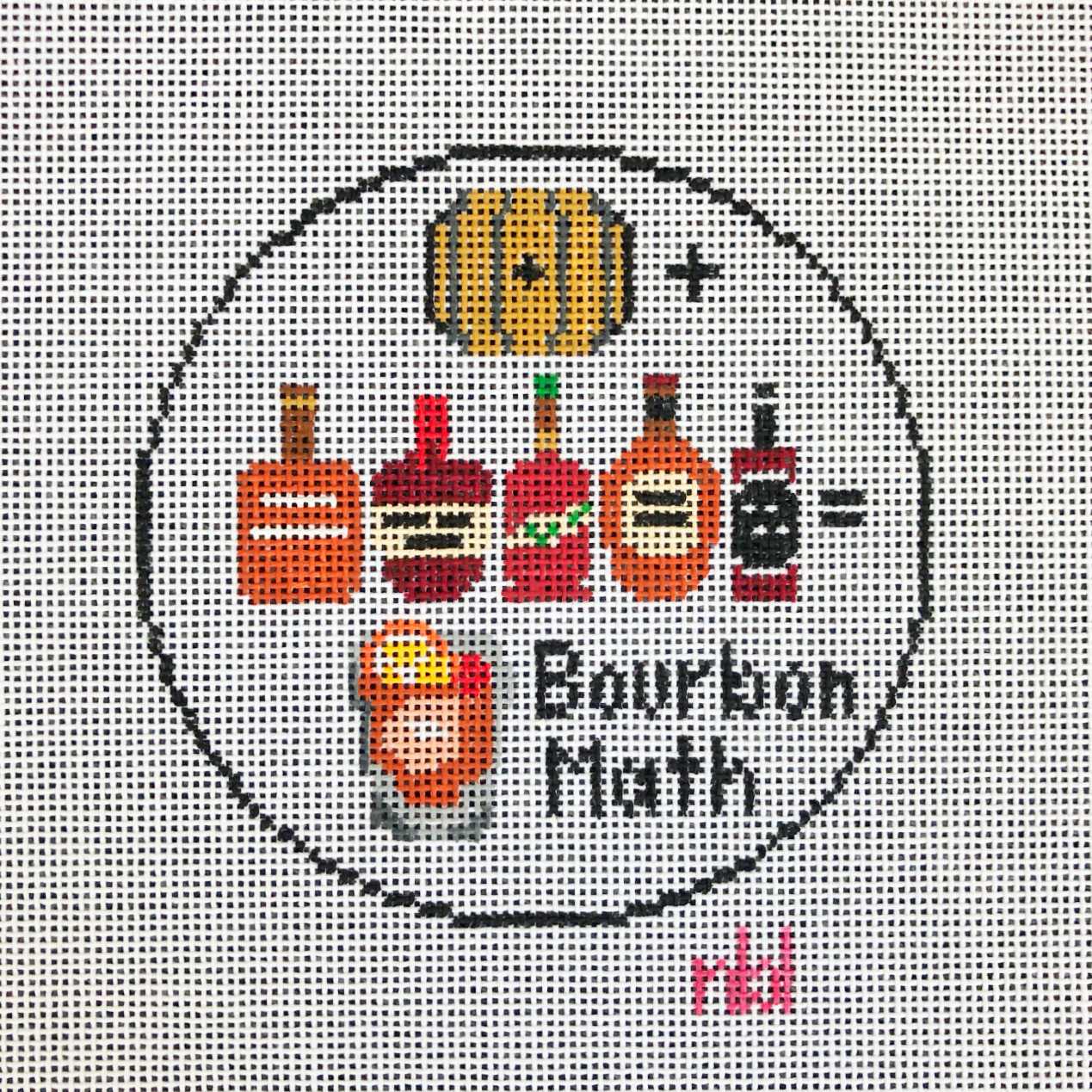 Needlepoint by Laura Bourbon Math Round