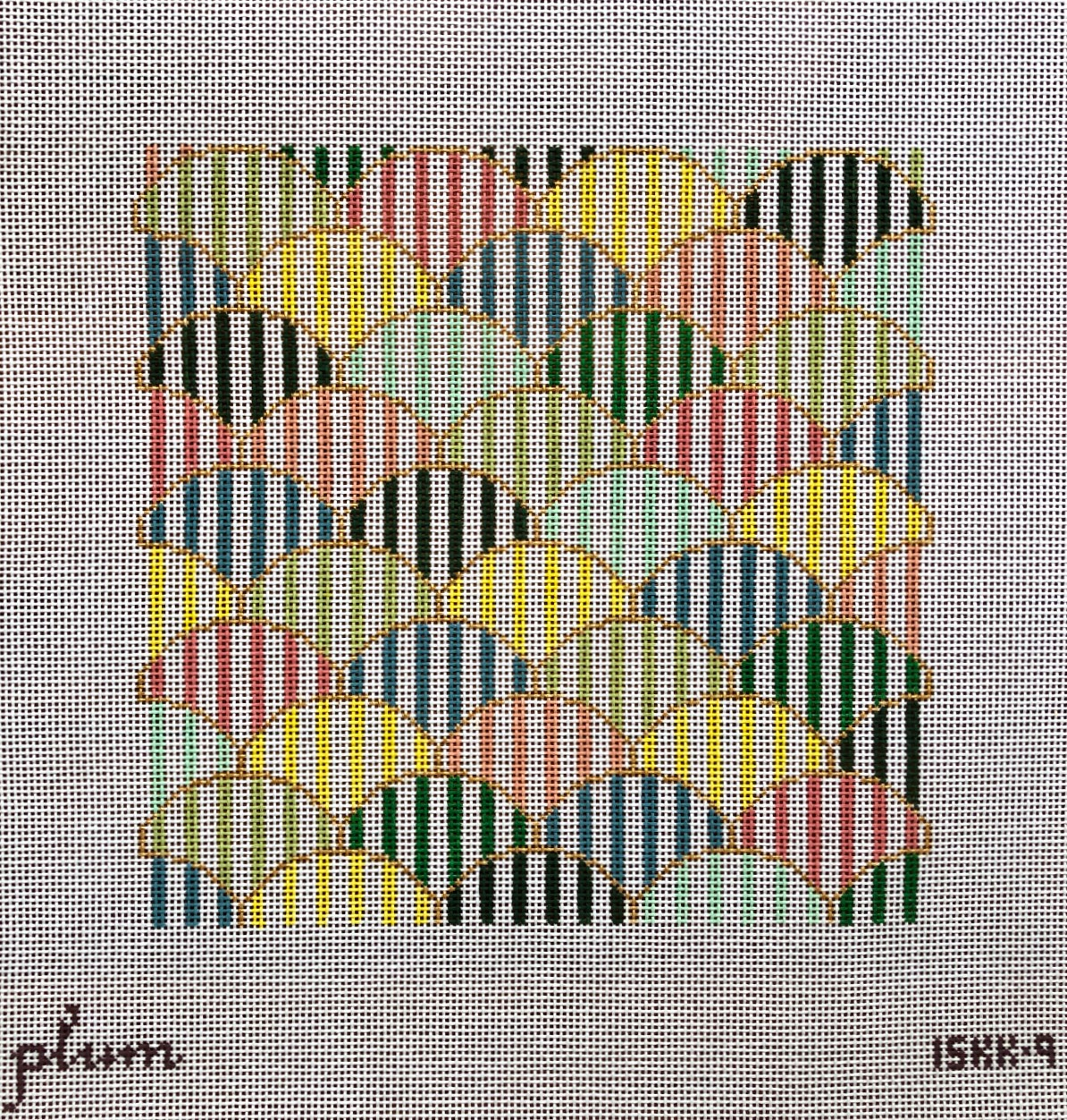 Plum Stitchery Stripes