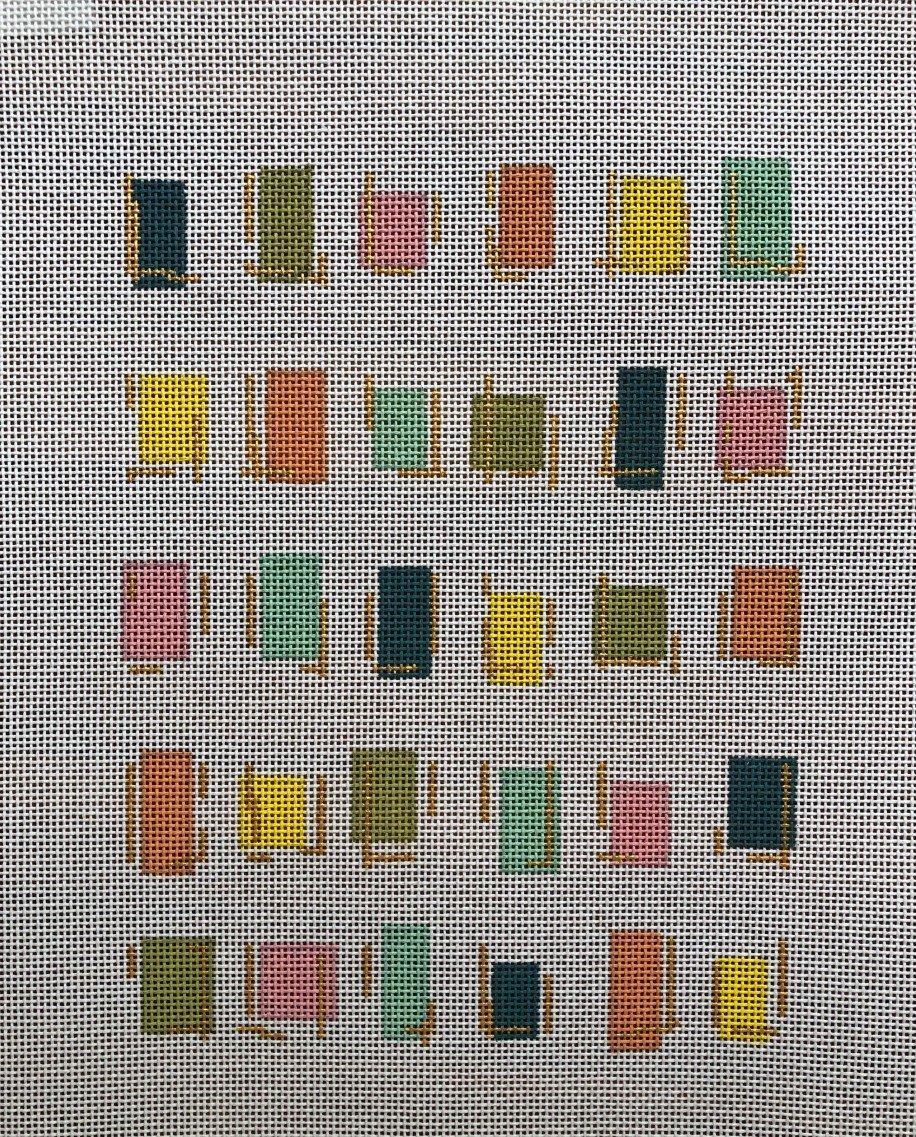 Plum Stitchery Stripes - Cheery