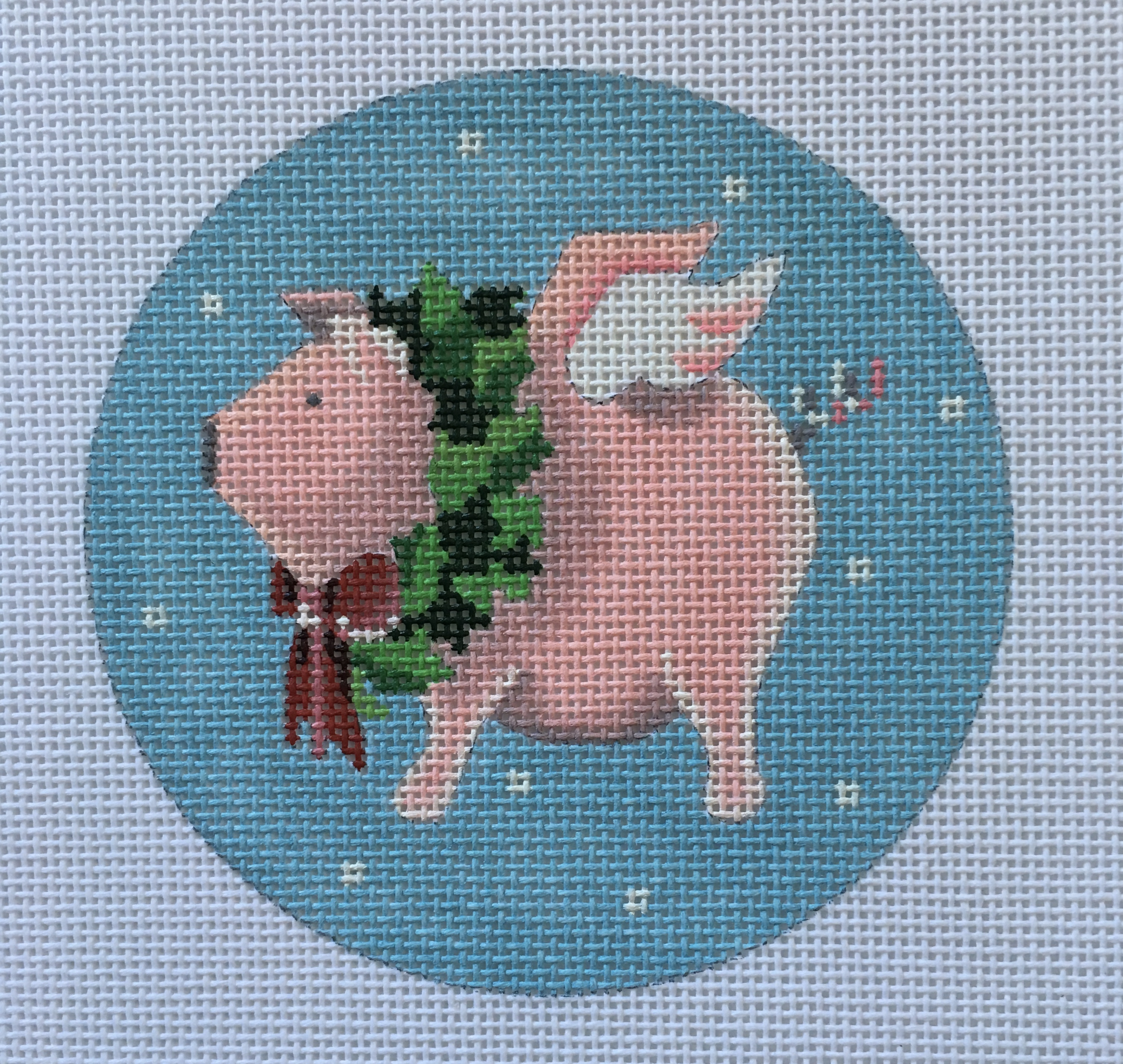 Flying Pig Christmas Round by Pepperberry Designs