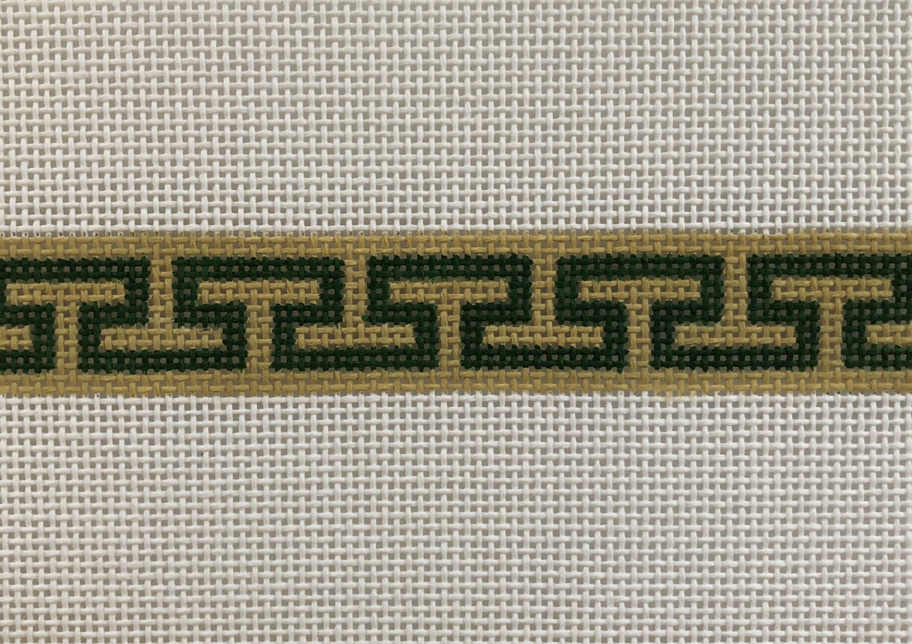 Greek Key Belt on 13 mesh