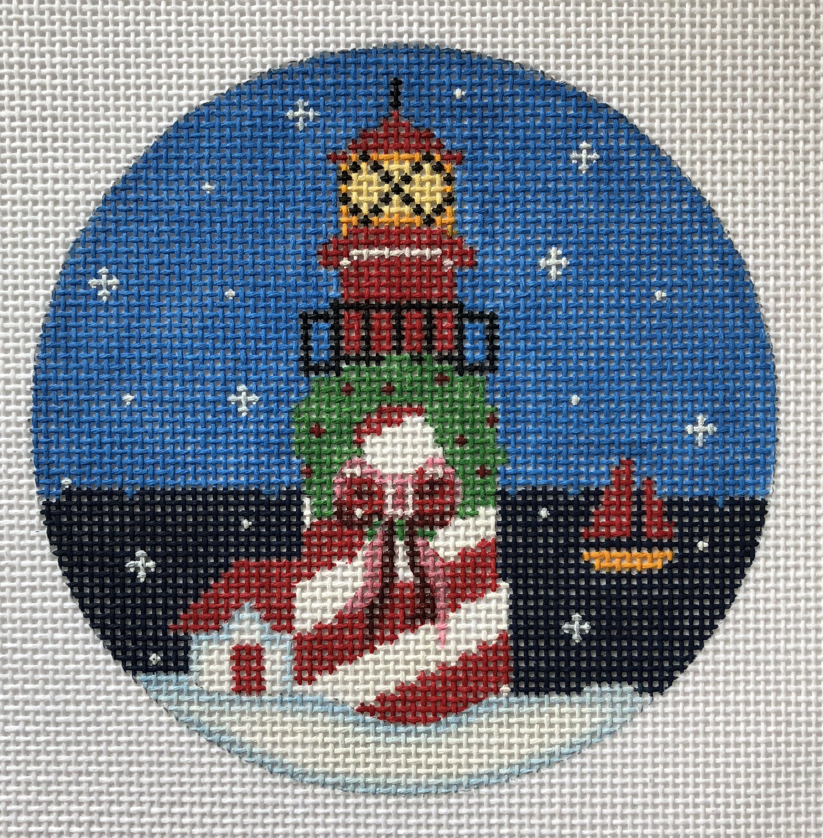 Lighthouse Christmas Round by Pepperberry Designs