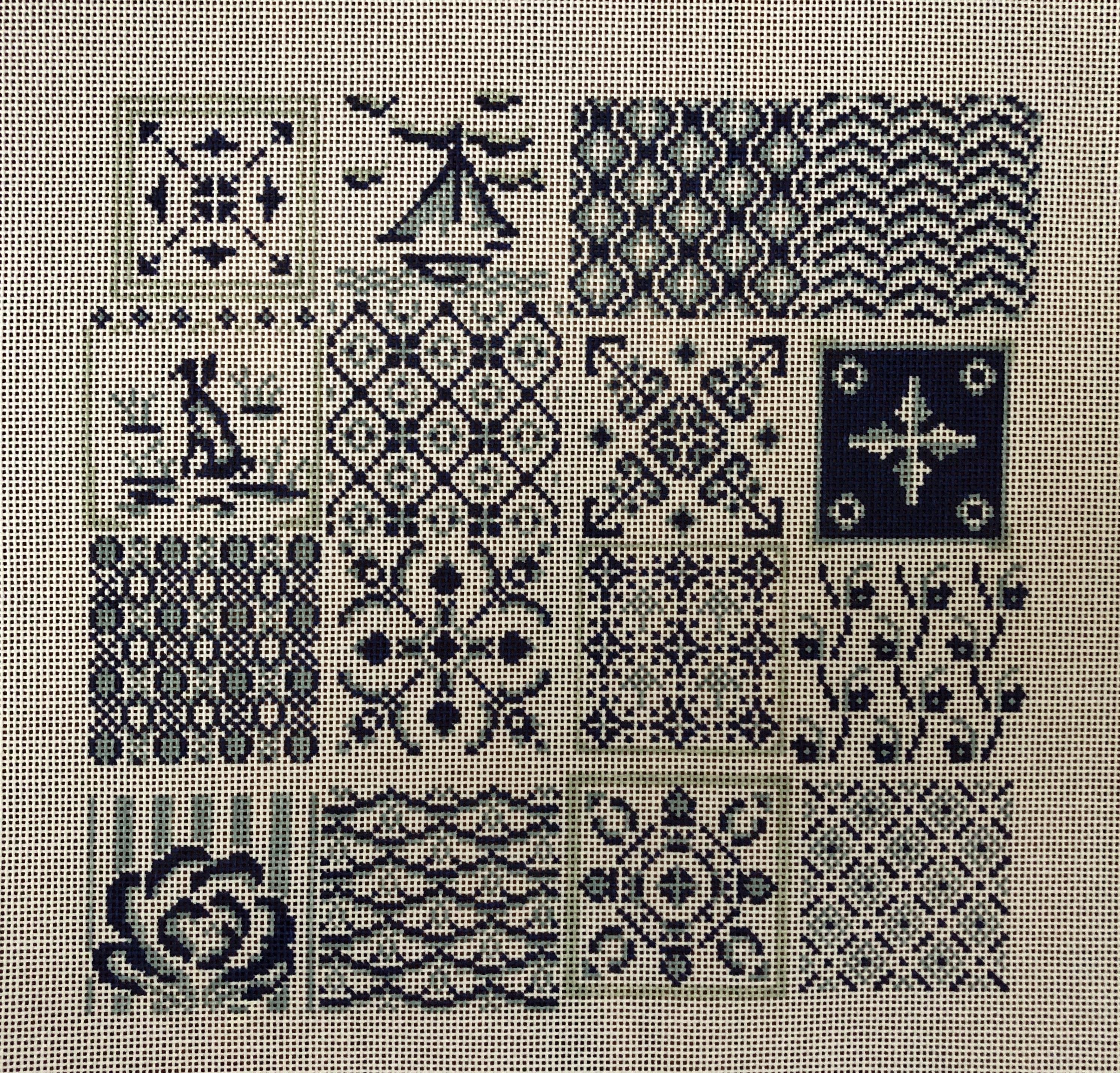 Plum Stitchery - Blue & White Tiles