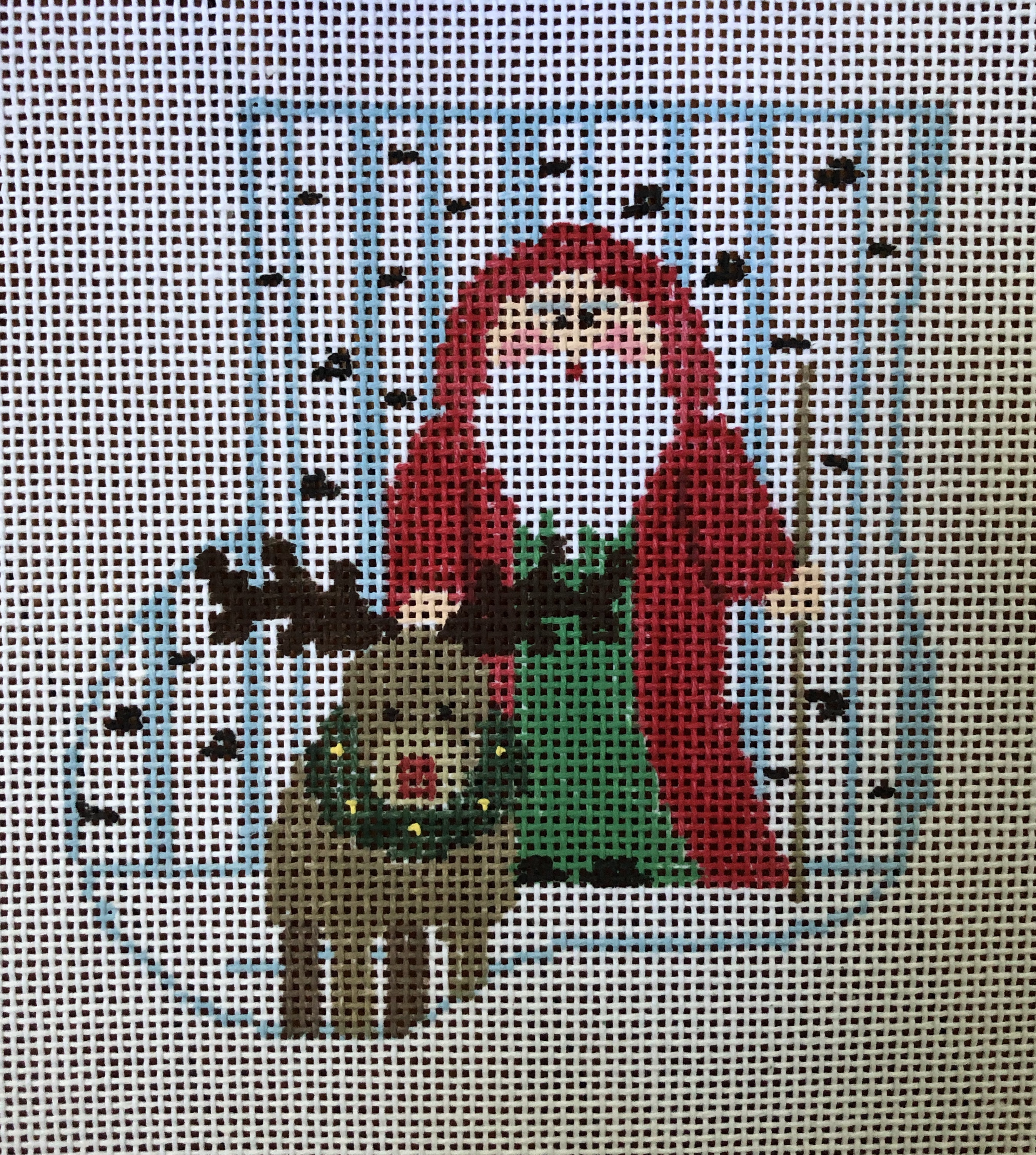 Kathy Schenkel Woodland Santa w/Reindeer