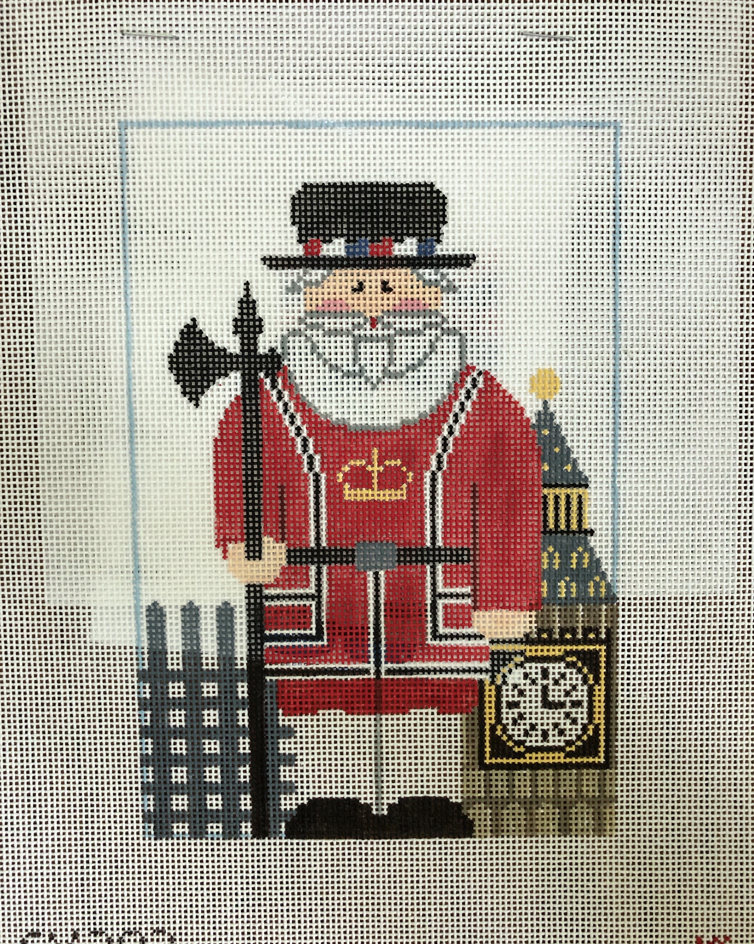 Kathy Schenkel English Beefeater Santa w stitch guide