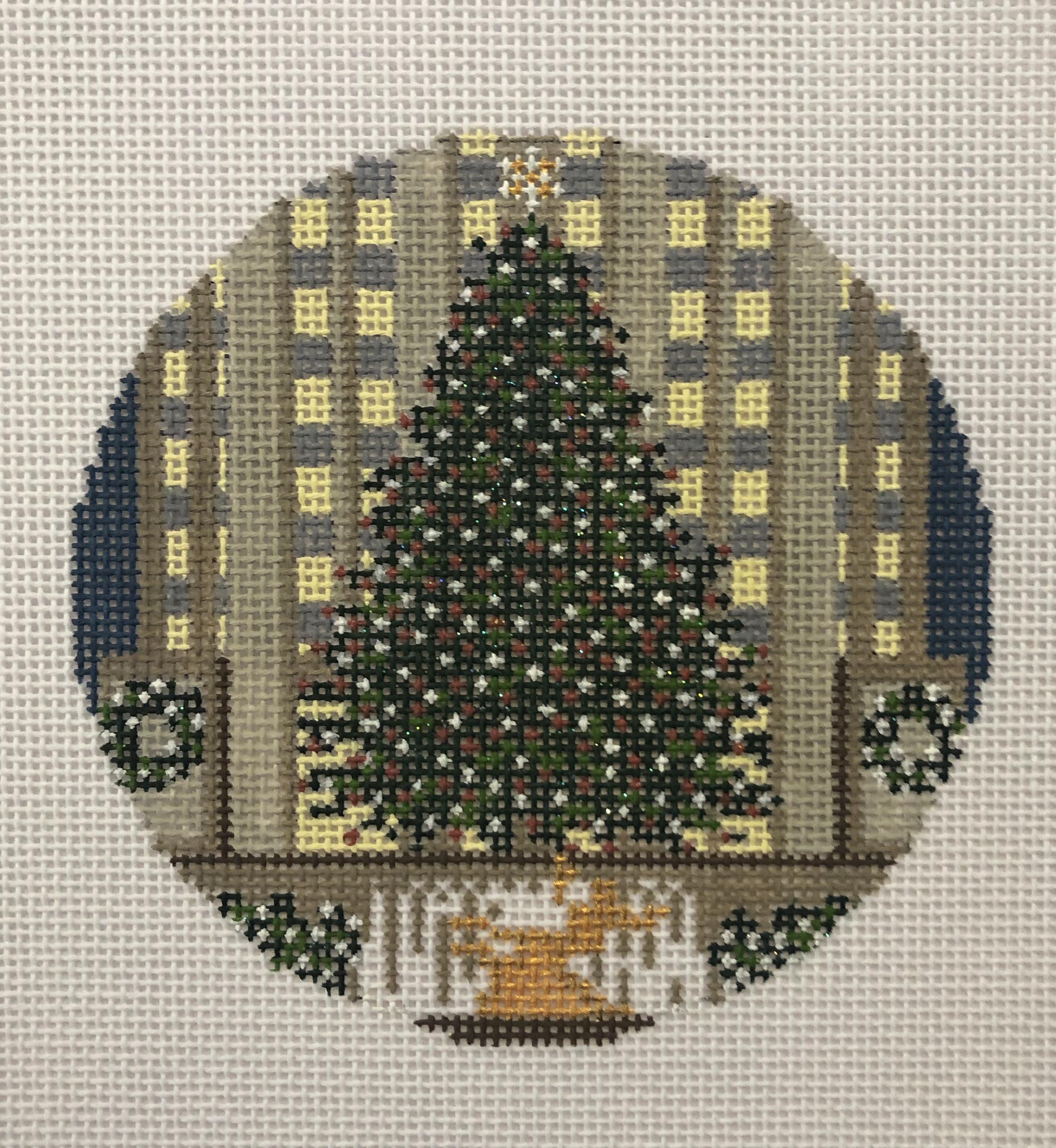 Needle Crossing Rockefeller Center Christmas Tree Round