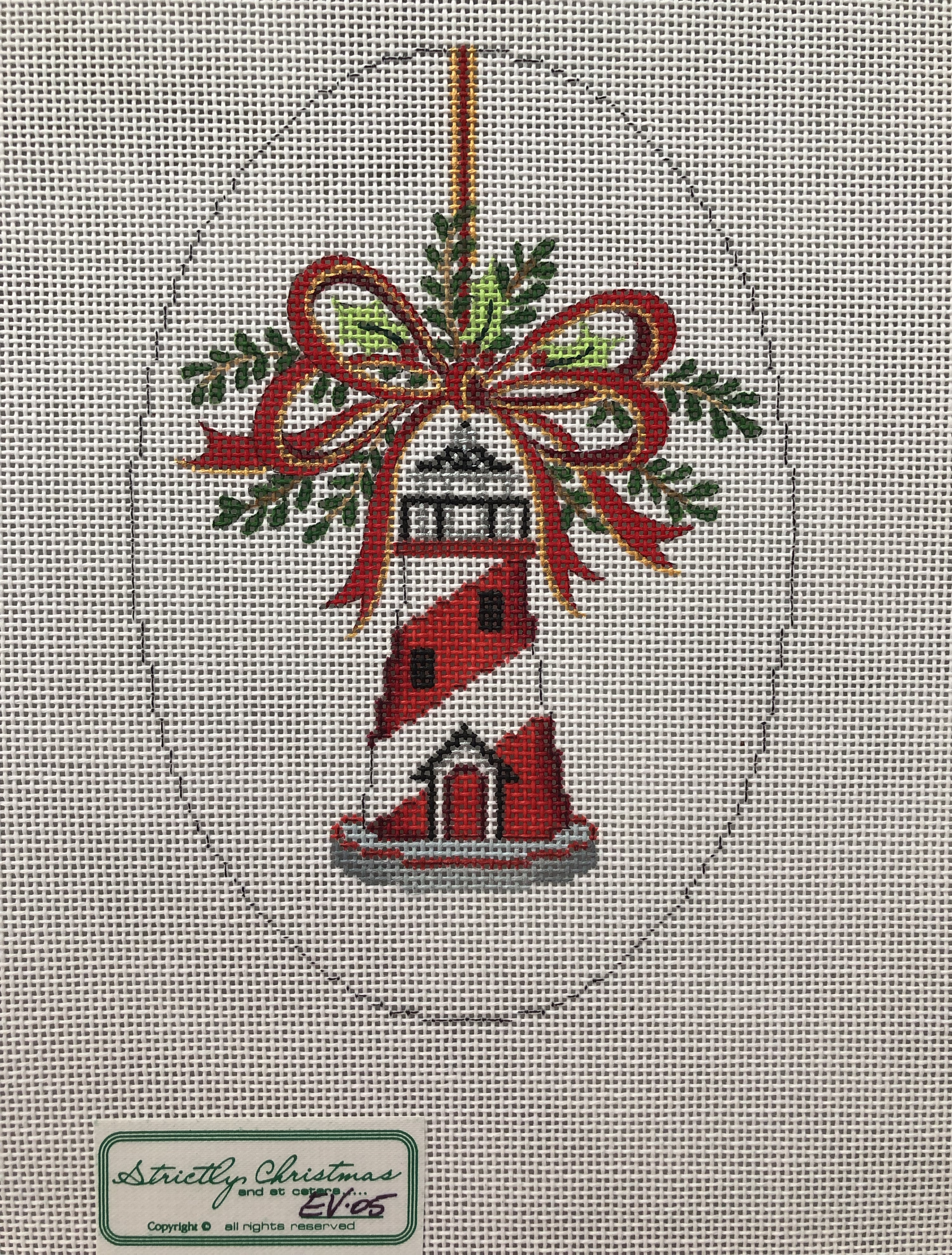 Strictly Christmas Lighthouse Ornament