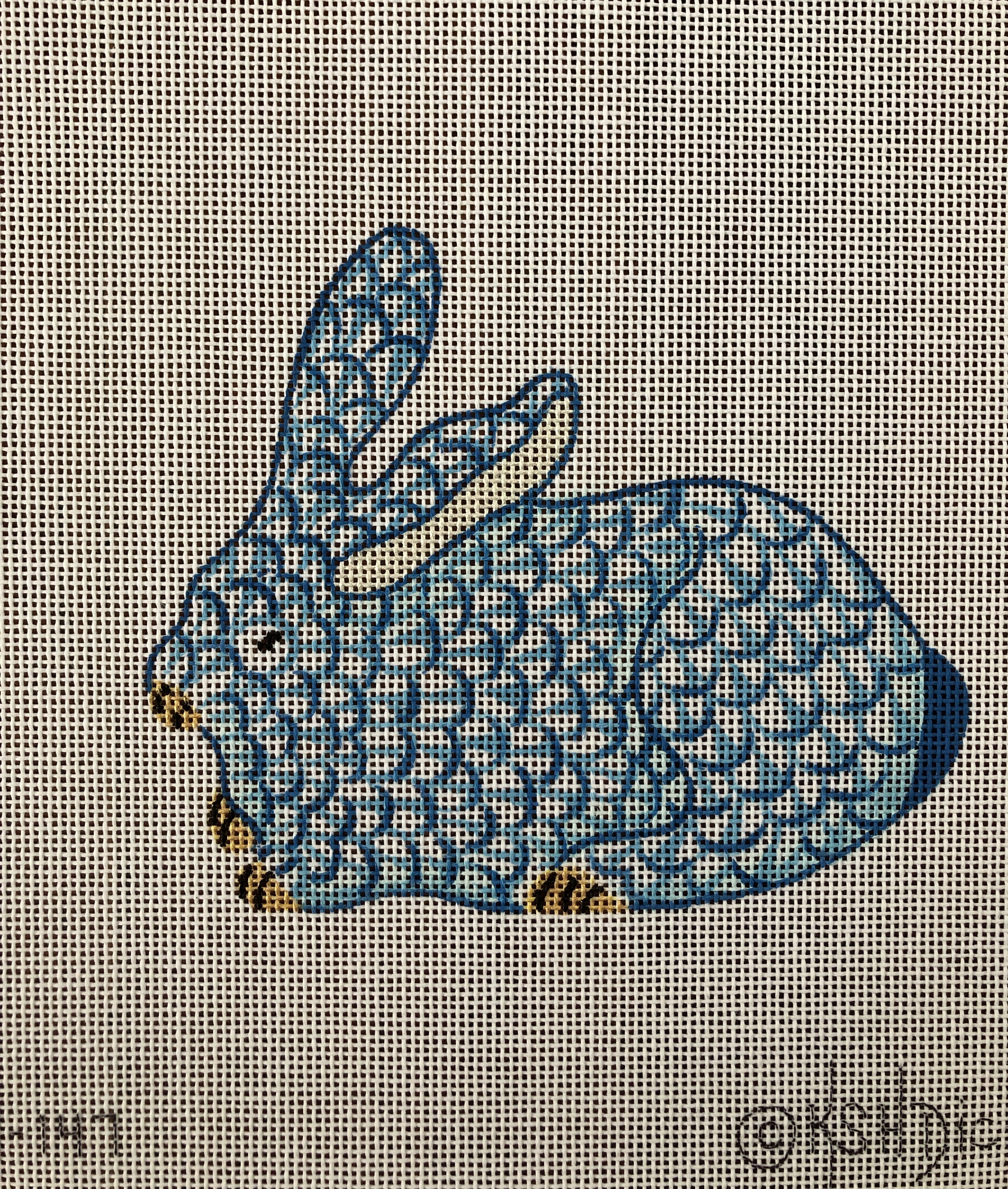 Kate Dickerson Blue Herend Bunny