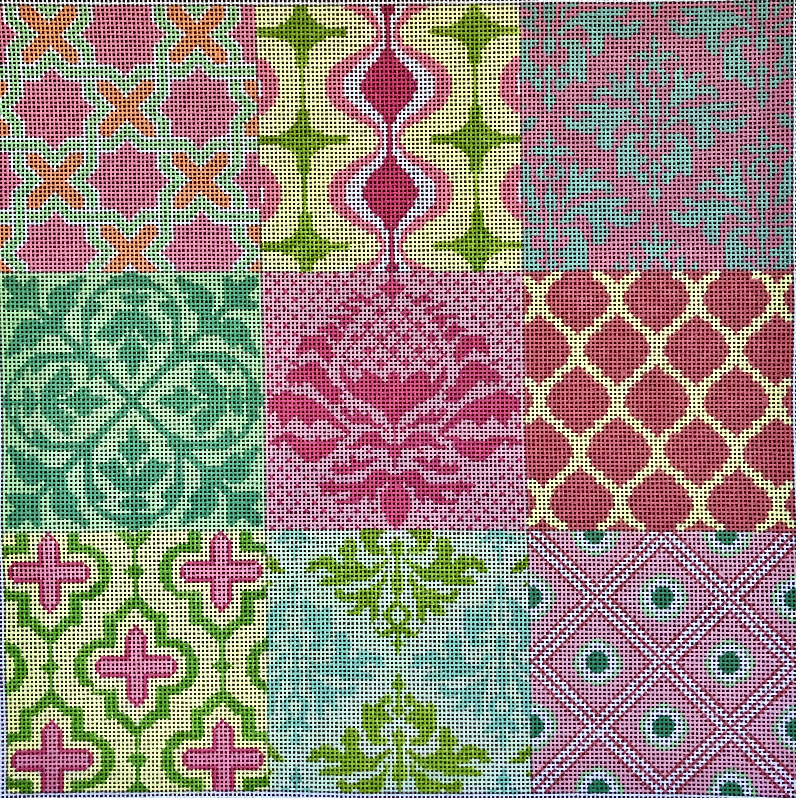 Kate Dickerson Damask Wallpaper Patchwork