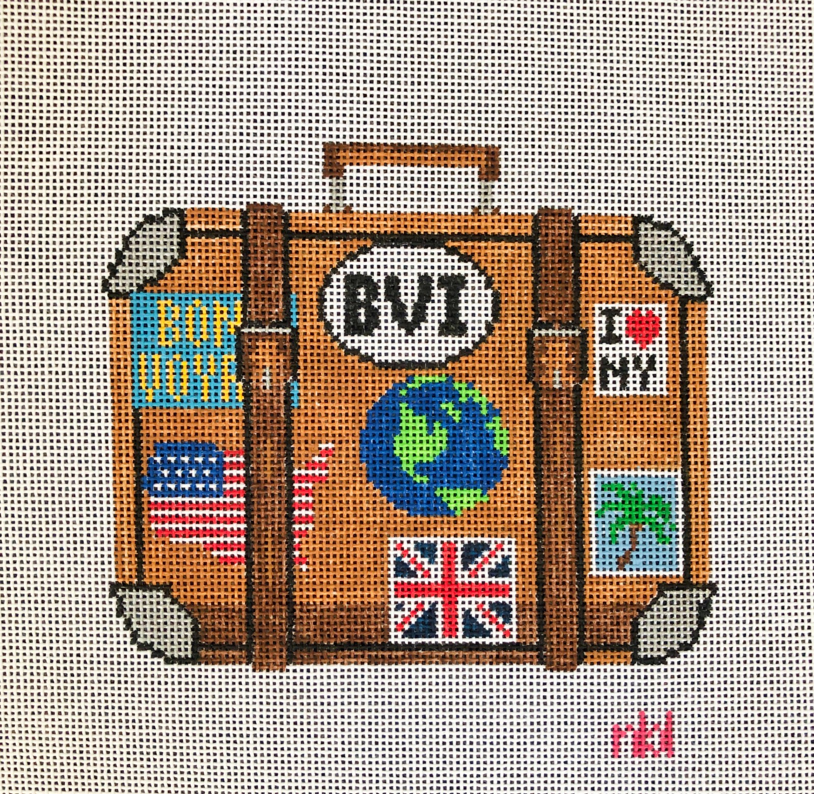 Needlepoint by Laura Travel Suitcase