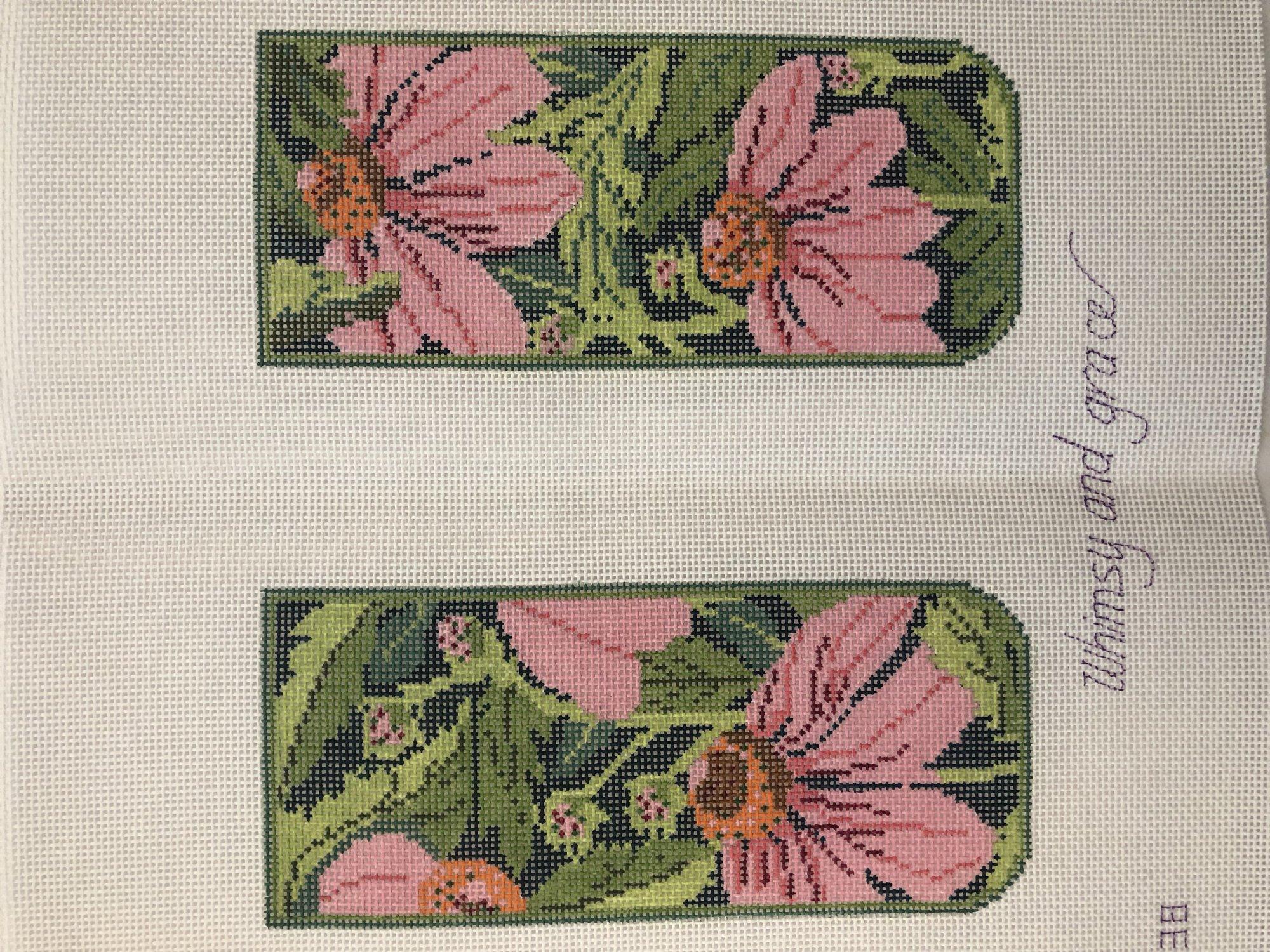 Whimsy & Grace J-Pink Echinacea Eyeglass Case
