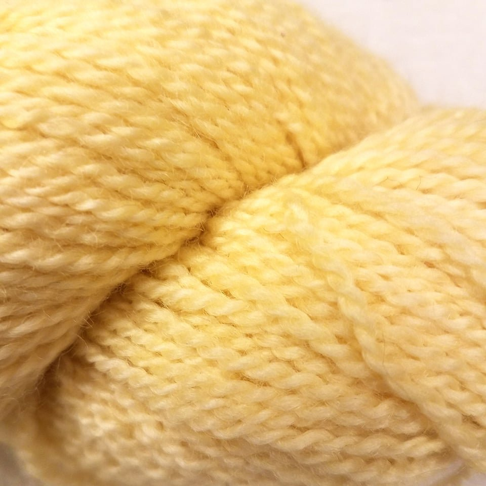 31 BFL Solid DK Raw Butter