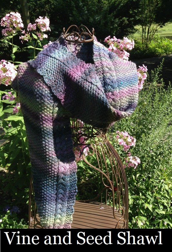Vine and Seed Shawl