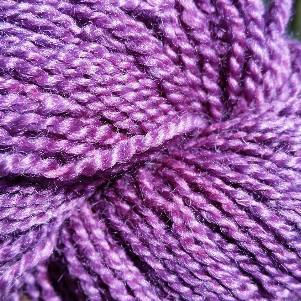 996 BFL Solid DK Organic Purple
