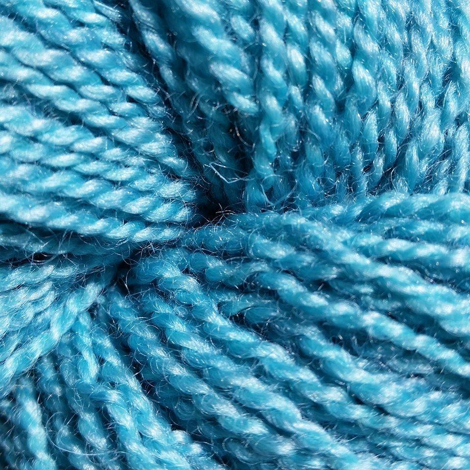 BFL Solid DK  Coral Blue
