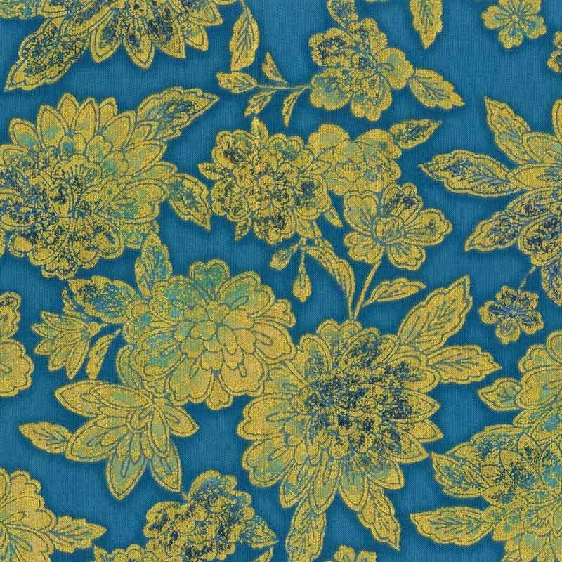 Fiorella Teal Floral w/Metallic