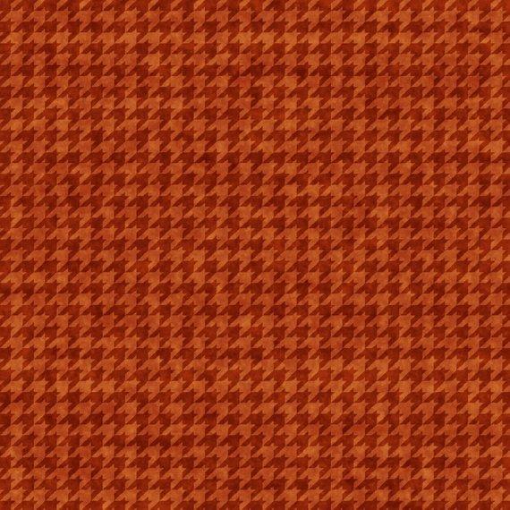 Houndstooth Basics-red orange