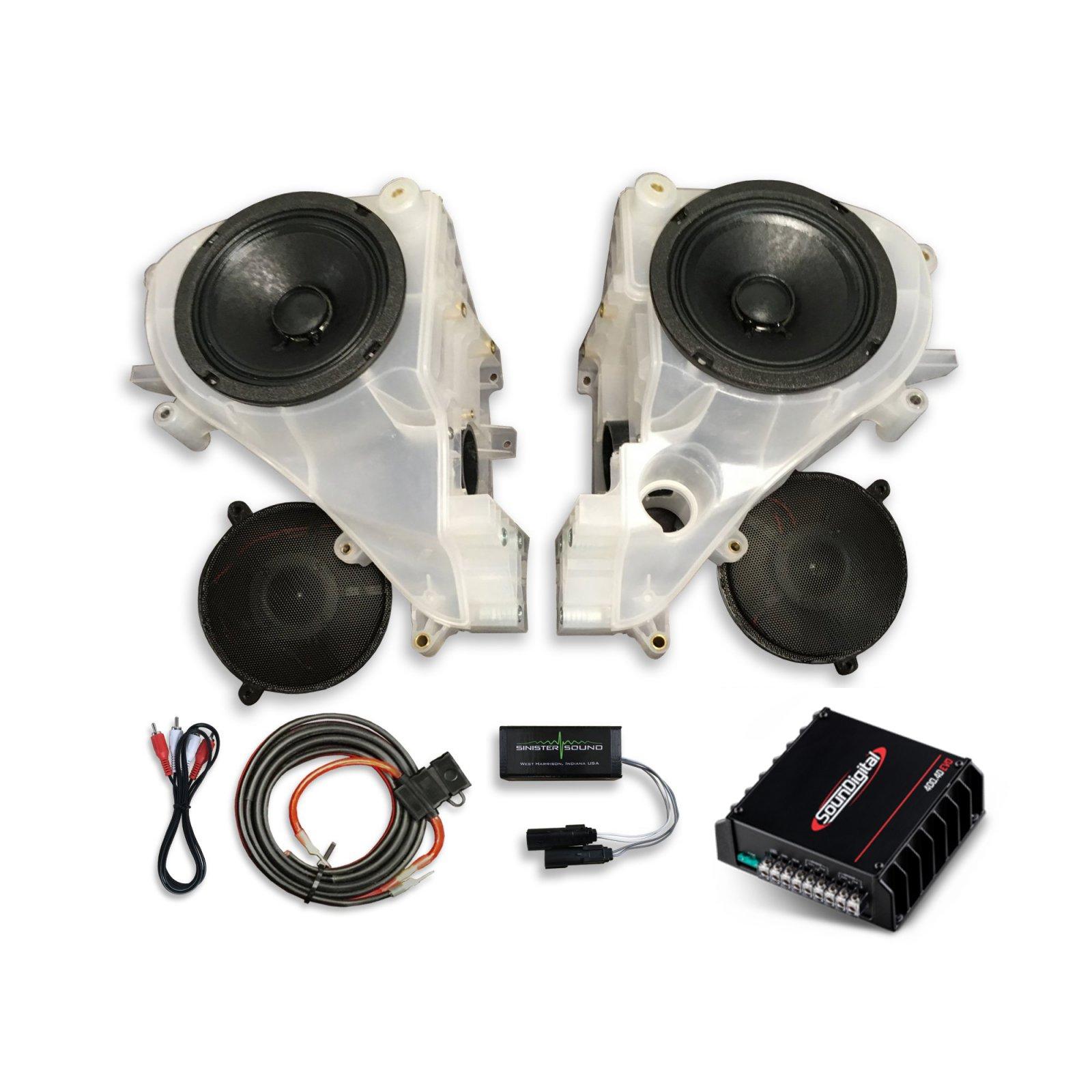 14-18 Street Glide SinisterSound Fairing System with Sound Digital