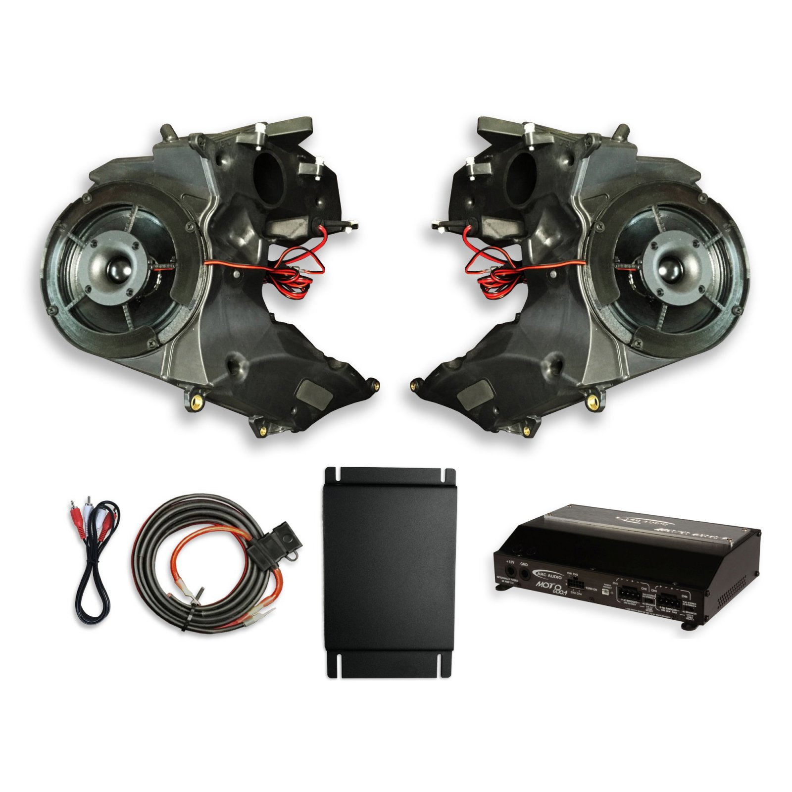 19-UP Road Glide SinisterSound Fairing System w/Arc Audio Moto720 and RG15