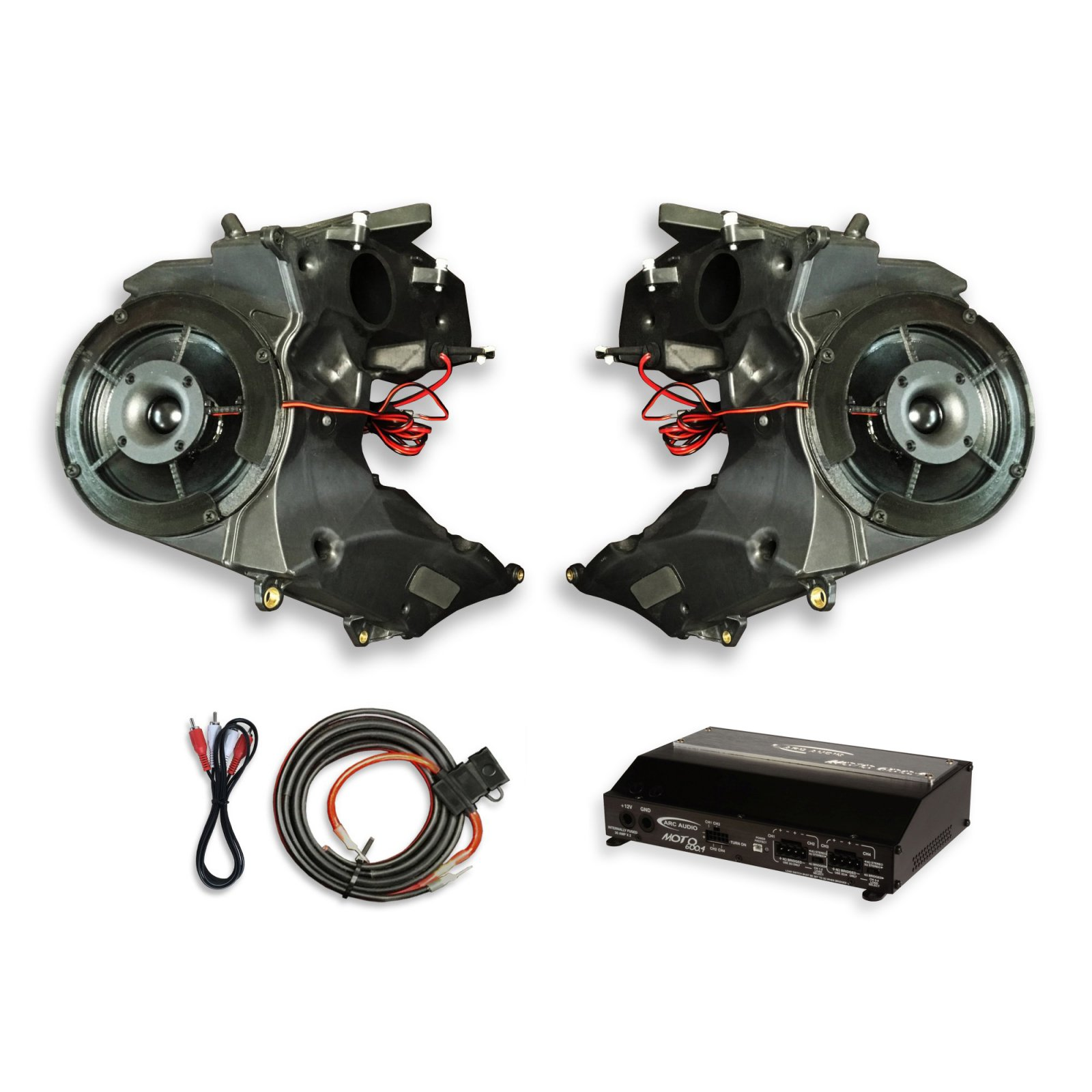 19-UP Road Glide SinisterSound Fairing System w/Arc Audio Moto720